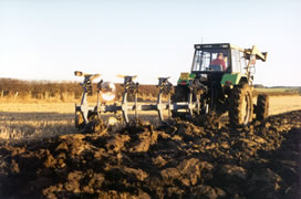 Jimmy Burn ploughing